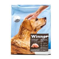 Winner Сухой корм для собак крупных пород, курица, 3 кг