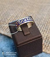 Кольцо обручальное / фиолетовая эмаль / размеры: 16 - 22