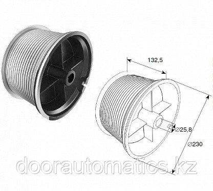 Барабан для стандартного подъема м 203 н=9780 мм