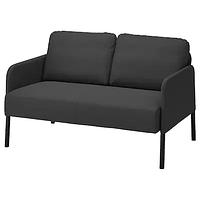 Диван 2-местный  ГЛОСТАД Книса темно-серый ИКЕА, IKEA