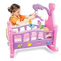 """Набор """"Пупс (35 см) + кроватка для кукол"""" (Pituso, Россия-Испания)"""