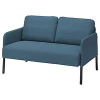 Диван 2-местный ГЛОСТАД Книса классический синий ИКЕА, IKEA