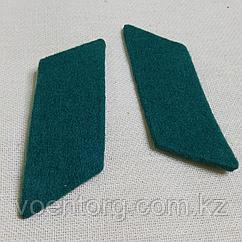 Петлицы на воротник суконные без металлической основы (зеленые)