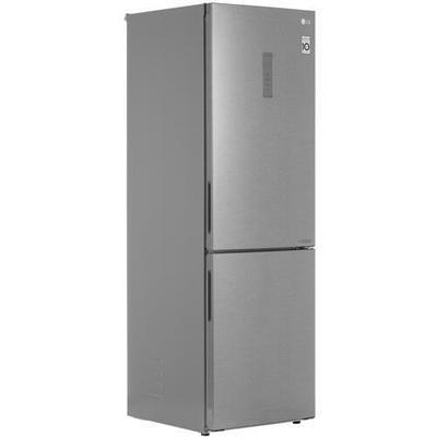 Холодильник с морозильником LG GA-B459CLWL серебристый