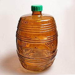Бутыль Бариле 10л коричневая с крышкой