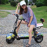 ЭЛЕКТРОБАЙК CITY COCO mini электрический самокат E Scooter с задним сиденьем