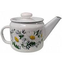 Чайник эмалированный Ромашковое поле, 1 литр
