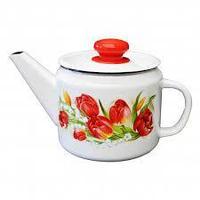Чайник эмалированный Ласковый май, 1 литр