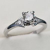 Золотое кольцо с бриллиантами 0.51Сt SI2/L, EX - Cut, фото 1