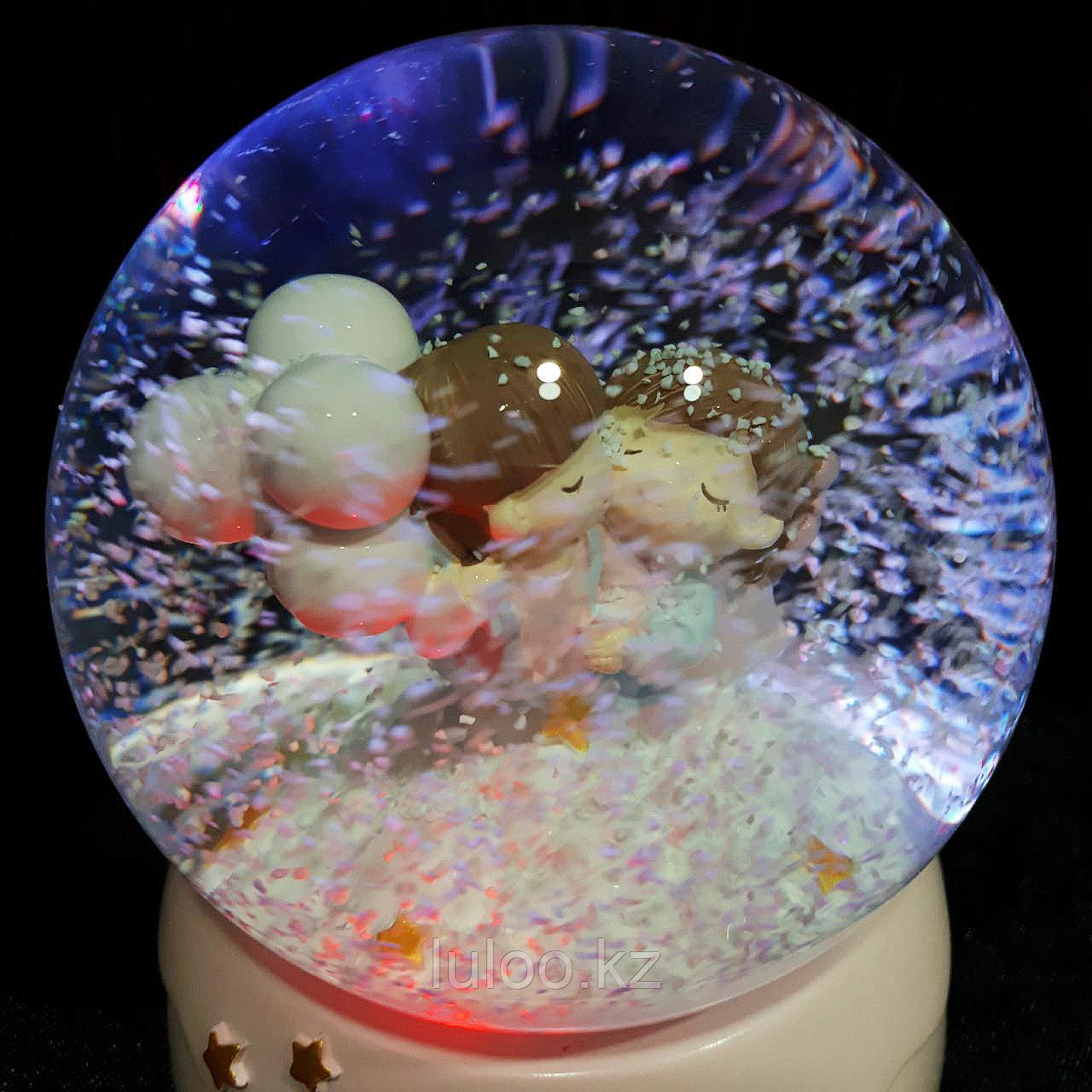 """Музыкальный снежный шар """"Воздушные шары"""", 16см. - фото 3"""