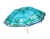 """Пляжный зонтик круглый """"Пальмы"""", диаметр 2,4 м"""