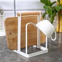 Держатель для кухонных принадлежностей 18х12,5х12,5 см, цвет белый