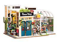 Деревянные 3D пазлы Дома миниатюры Flower Shop