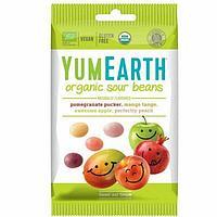 Органические жевательные конфеты YumEarth c кислинкой 50гр