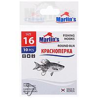 Крючок Marlin's «Краснопёрка» Round BLN, №16, 10 шт.
