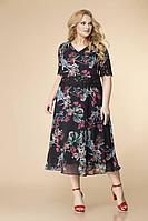 Женское летнее кружевное черное большого размера платье Romanovich Style 1-2157 черный 56р.