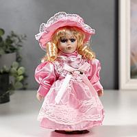 """Кукла коллекционная керамика """"Малышка Майя в розовом платье"""" 20 см"""