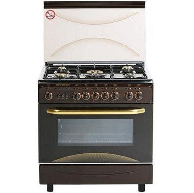 Кухонная плита MILANO ML80G5/01 (55х80) коричневая со стальным верхом 4592