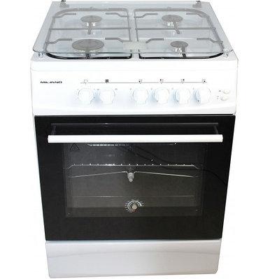 Кухонная плита MILANO ML60G4/01 (60х60) (с подж подсветка) белая 6060