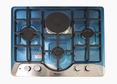 Настольная плита IDEAL 20210-N 3+1 60х60 INOX