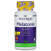 БАД Мелатонин, быстрорастворимый 1 мг (90 таблеток) (со вкусом клубники)