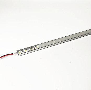 Алюминиевый световой профиль для подсветки в комплекте с рассеивателем  (накладной HC-013 17х7мм 4M)