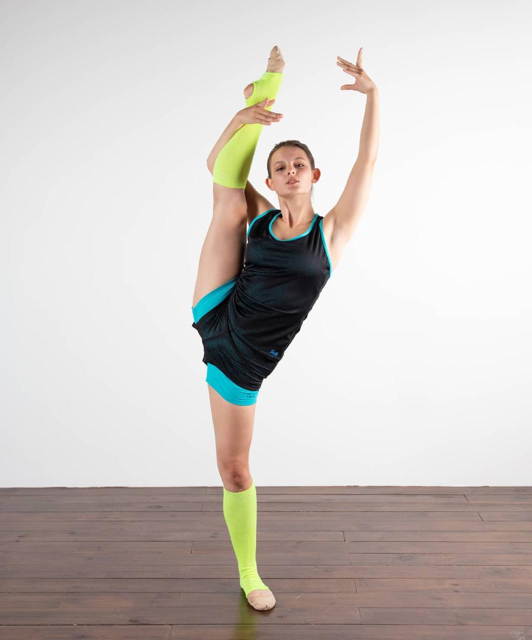 Гетры гимнастические разогревочные Stella , шерсть, 40 см Chanté
