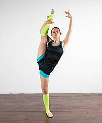Гетры гимнастические разогревочные Stella , шерсть, 50 см Chanté зелёный