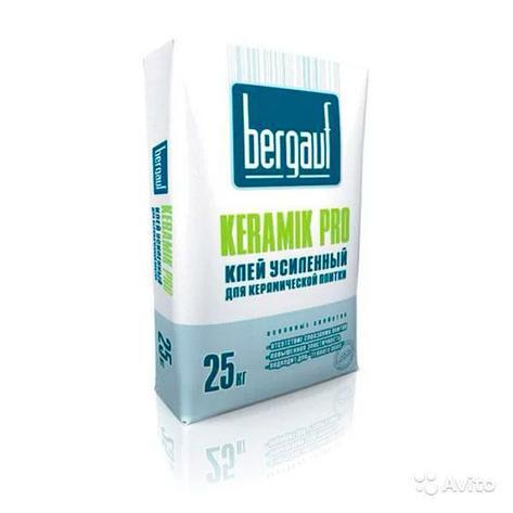 Клей усиленный для керамической плитки Bergauf Keramik Pro 25 кг, фото 2