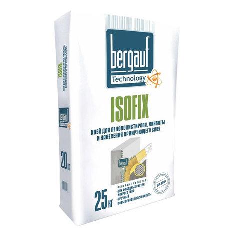 Клей для пенополистирола, минваты Bergauf ISOFIX, 25 кг, фото 2