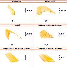 Профиль для поликарбоната соединительный разъемный НСР, прозрачный 6-10*6000 мм (base)