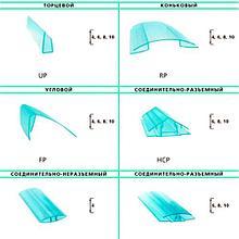 Профиль для поликарбоната торцевой 16*2100 мм, прозрачный