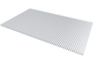 Сотовый поликарбонатный лист прозрачный Woggel 2100х12000х10 мм