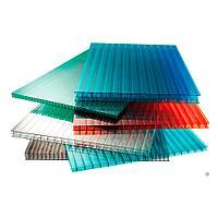 Сотовый поликарбонатный лист прозрачный КинПласт 2100х6000х25 мм