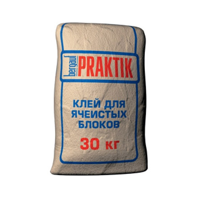 Клей для ячеистых блоков PRAKTIK , 30кг