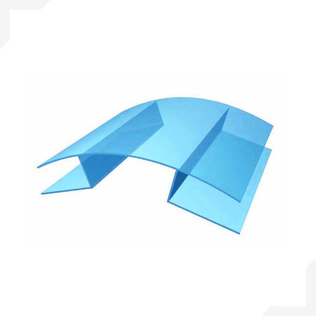Профиль для поликарбоната коньковой 4-6*6000 мм, прозрачный