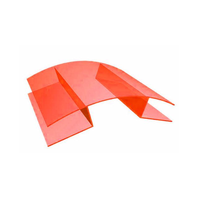 Профиль для поликарбоната коньковой 8-10*6000 мм, прозрачный