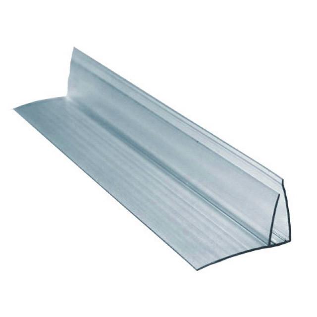 Профиль для поликарбоната пристенный 4-6*6000 мм, прозрачный