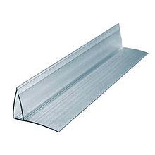 Профиль для поликарбоната пристенный 8-10*6000 мм, прозрачный
