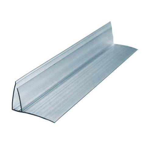 Профиль для поликарбоната пристенный 8-10*6000 мм, прозрачный, фото 2