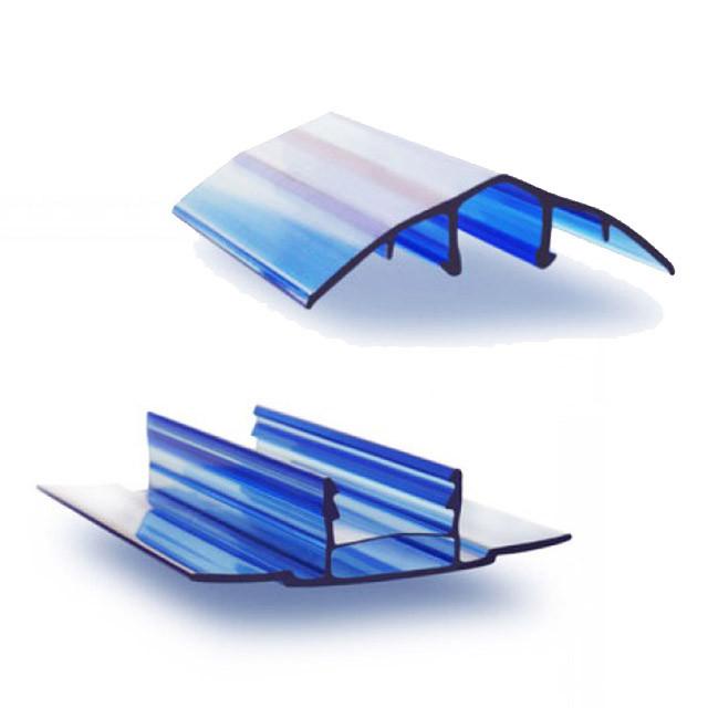 Профиль для поликарбоната соединительный разъемный НСР, прозрачный 6-10*6000 мм (cap)