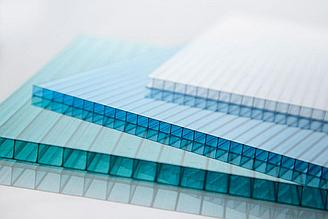 Сотовый поликарбонатный лист прозрачный Skyglass 2100х12000х4мм
