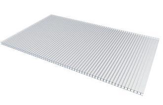 Сотовый поликарбонатный лист прозрачный Woggel 2100х12000х8 мм