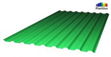 Профилированный поликарбонат, зелёный цвет, 0.8 мм
