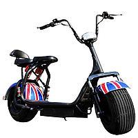 Электрический скутер City Coco Harly 60v UK Flag (электробайк)