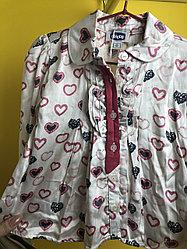 Белая рубашка с сердечками «Chicco»