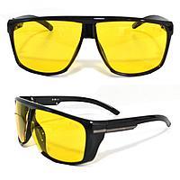 Солнцезащитные поляризационные очки ПОЛАРОИД для водителей черные оправы желтые стекла G TR PX 9801 A