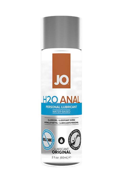 Анальный лубрикант JO Anal H2O на водной основе, 60 мл