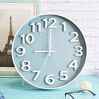 Настенные часы диаметр 30 с серым циферблатом XC 612 CE белые