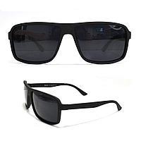 Солнцезащитные поляризационные очки ПОЛАРОИД UV400 черные матовые оправы черные стекла PM1583